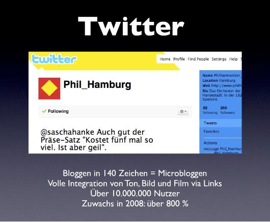 Ist so ein Tweet wirklich imagefördernd für die Philharmonie Hamburg?