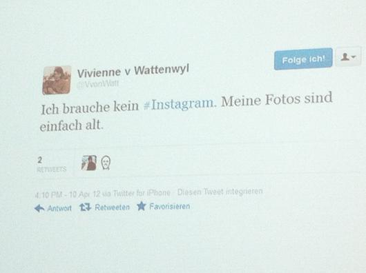 Vivienne von Wattenwyl kanns auch ohne Instagram