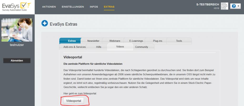 Zugang zum Videoportal - Schritt 4 - Link Videoportal