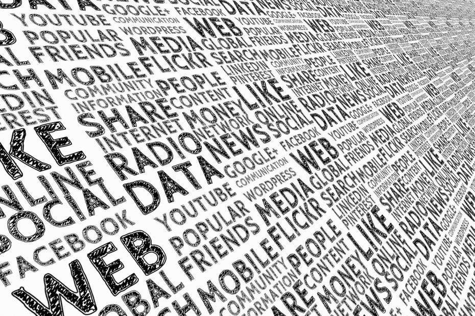 Wortwolke zu social media