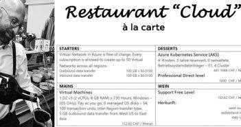 Titel Bild «all you can eat» versus «a la carte» im Cloud Umfeld