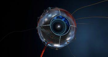 Bild eines Sensors, welcher etwas ZU beobachtend wirkt.