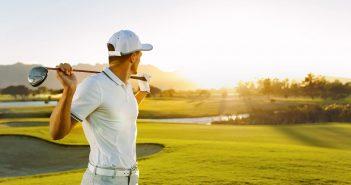 Golfer Thinking Ahead