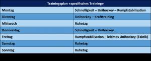 Trainingsplan Spezifisches Training